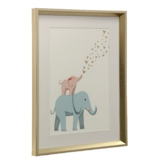 Elephants | Made in USA | Juvenile Collection Wall Art | Framed Print Under Glass