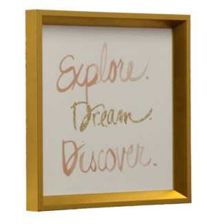 Explore  Dream  Discover | Made in USA | Juvenile Collection Wall Art | Framed Print Under Glass