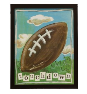 Touchdown | Made in USA | Juvenile Sports Collection Wall Art | Textured Framed Print