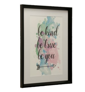 Be Kind | Made in USA | Juvenile Collection Wall Art | Framed Print Under Glass