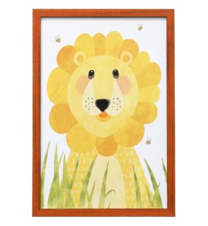 SAVE THE LIONS | 19in X 13in | Made in the USA | Framed Print Under Glass