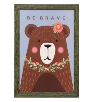 BRAVE BEAR | 19in X 13in | Made in the USA | Framed Print Under Glass