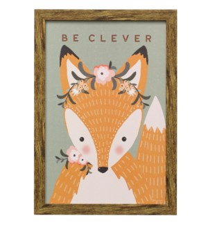 CLEVER FOX | 19in X 13in | Made in the USA | Framed Print Under Glass