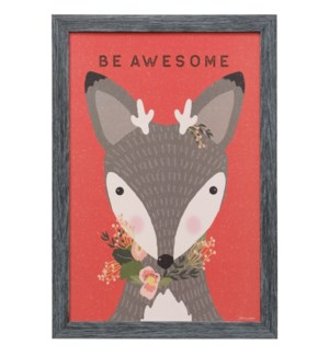 AWESOME DEER | 19in X 13in | Made in the USA | Framed Print Under Glass