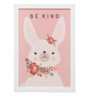 KIND BUNNY | 19in X 13in | Made in the USA | Framed Print Under Glass