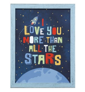 ALL THE STARS | 26in X 20in | Made in the USA | Framed Print Under Glass