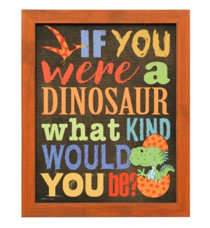 WHAT KIND OF DINOSAUR | 23in X 19in | Made in the USA | Framed Print Under Glass