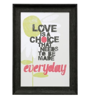 LOVE IS | 22in X 16in | Made in the USA | Framed Print Under Glass