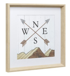 COMPASS | 18in X 18in | Made in the USA | Framed Print Under Glass