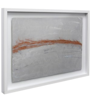 Lawrence Crane Original | 36in X 26in | Hand Painted on Water Color Paper | Shadow Box Under Glass