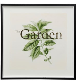 The Garden | 42in X 42in | Framed Print Under Glass