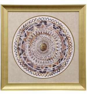 Golden Medallion | 32in X 32in | Framed Print Under Glass