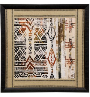 African Patterning II | 33in X 33in | Framed Print Under Glass