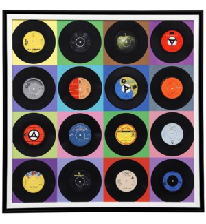 Record Collection | 30in X 30in | Framed Print Under Glass
