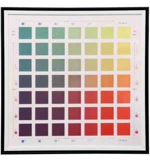Offset Colour Chart | 30in X 30in | Framed Print Under Glass
