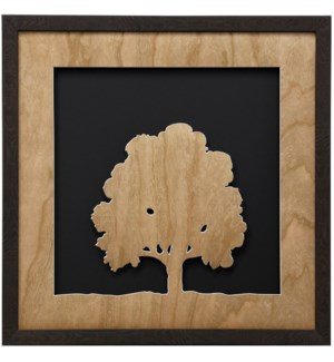 Cherry Veneer Tree I | 22in X 22in | Framed Print Under Glass