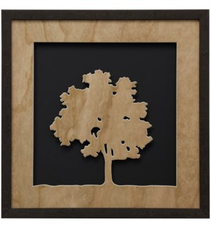 Cherry Veneer Tree II | 22in X 22in | Framed Print Under Glass