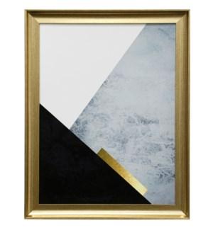 Dark Blue Mountain | 27in X 21in | Framed Print Under Glass