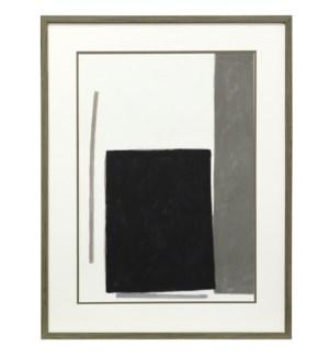 Blockade II | 35in X 27in | Framed Print Under Glass