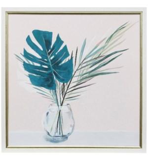 Sunday Palms | 26in X 26in | Framed Print Under Glass
