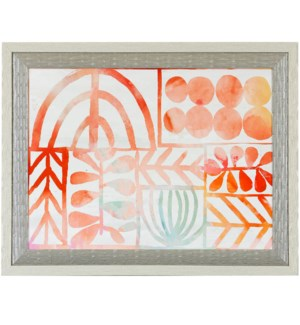 BOTANIC PRINT   41in X 17in   Made in the USA   Framed Print Under Glass