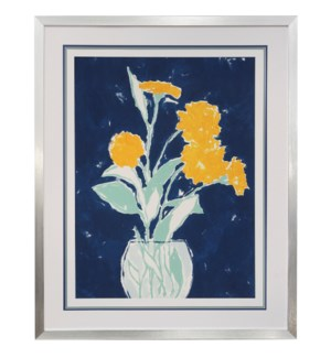SKETCHBOOK FLORALS | 34in w X 42in ht | MADE IN USE | FRAMED PRINT UNDER GLASS