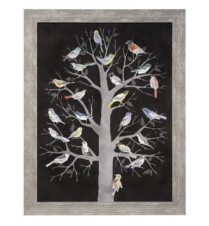 WILD FOLIAGE | 31in w X 35in ht | MADE IN USE | FRAMED PRINT UNDER GLASS