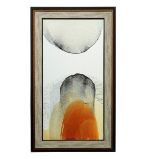 Movements Of Light I | 57in X 33in | Textured Framed Print