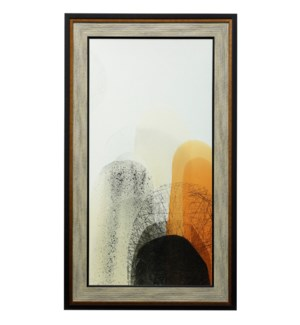 Movements Of Light II | 57in X 33in | Textured Framed Print