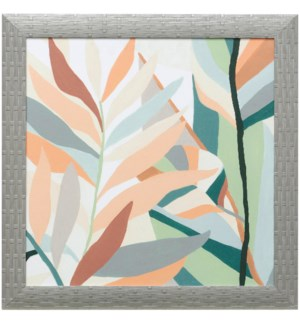 SOFT TROPICALS I | 21in X 21in | Made in the USA | Textured Framed Print