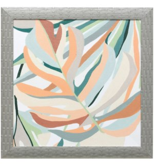 SOFT TROPICALS II | 21in X 21in | Made in the USA | Textured Framed Print