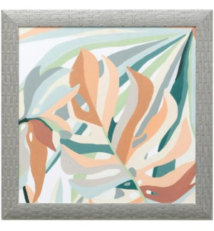 SOFT TROPICALS III | 21in X 21in | Made in the USA | Textured Framed Print