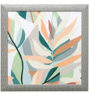 SOFT TROPICALS IV | 21in X 21in | Made in the USA | Textured Framed Print