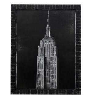 EMIPRE STATE   45in X 35in   Made in the USA   Textured Framed Print