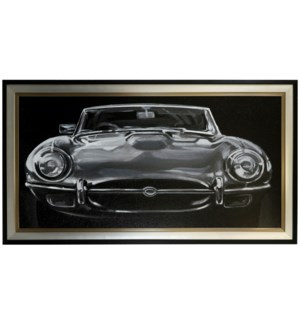 EUROPEAN SPORTS CAR I   37in X 67in   Made in the USA   Textured Framed Print