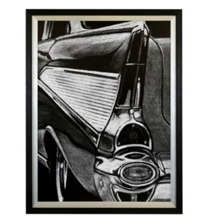 RETRO FINS II   34in X 26in   Made in the USA   Textured Framed Print