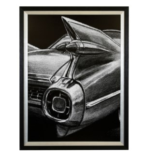 RETRO FINS I   34in X 26in   Made in the USA   Textured Framed Print
