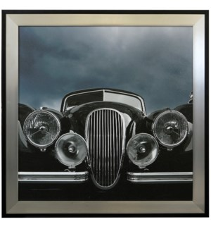 RETRO HEADLIGS   48in X 48in   Made in the USA   Textured Framed Print