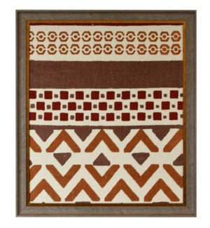 HAND PAINTED RED RUG III   38in X 33in   Made in the USA   Textured Framed Print