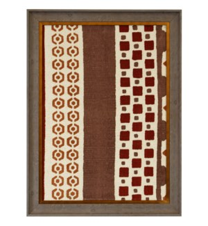 HAND PAINTED RED RUG I   34in X 25in   Made in the USA   Textured Framed Print