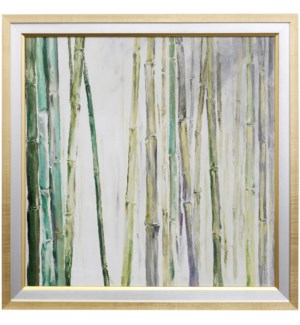 BAMBOO II | 35 X 35 | Made in USA | Textured Framed Print