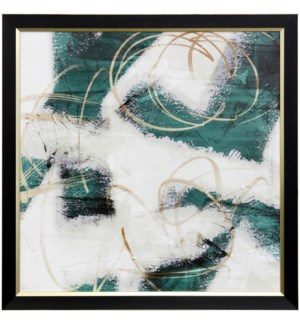 EMERALD MUSTARD PROPHECY I | 31 X 31 | Made in USA | Textured Framed Print