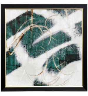 EMERALD MUSTARD PROPHECY II | 31 X 31 | Made in USA | Textured Framed Print
