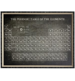 PERIODIC TABLE | 43 X 33 | Made in USA | Textured Framed Print
