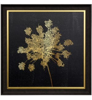 LADY GOLD I | 29 X 29 | Made in USA | Textured Framed Print
