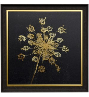 LADY GOLD II | 29 X 29 | Made in USA | Textured Framed Print