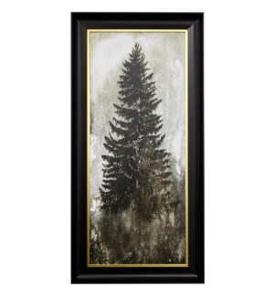 TREE IN THE GLOOM II | 27 X 55 | Made in USA | Textured Framed Print