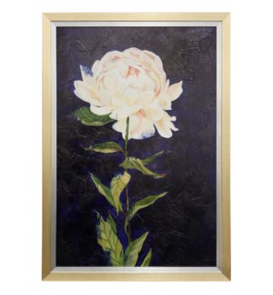 COBALT SKY BLOOM I | 28in w X 40in ht | MADE IN USA | TEXTURED FRAME PRINT