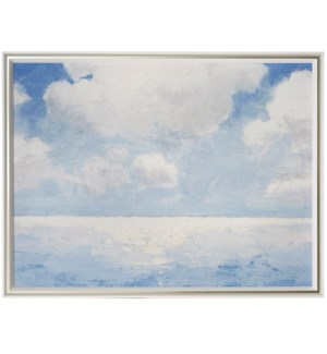 SPARKLING SEA | 51in w X 39in ht | MADE IN USA | TEXTURED FRAME PRINT