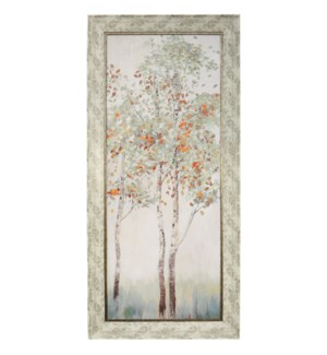 AUTUMN FIRST BREATH | 32in w X 68in ht | MADE IN USA | TEXTURED FRAME PRINT